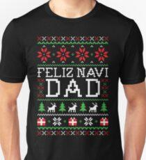 Feliz Navi DAD - Hässlicher Weihnachts-Pullover Slim Fit T-Shirt
