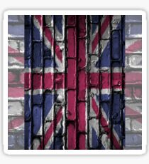 Flag of the United Kingdom in a old wall Sticker