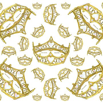 Queen of Hearts gold crown tiara tossed about by Kristie Hubler by kristiehubler