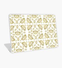 Queen of Hearts gold crown tiara tossed about by Kristie Hubler Laptop Skin