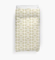 Queen of Hearts gold crown tiara tossed about by Kristie Hubler Duvet Cover