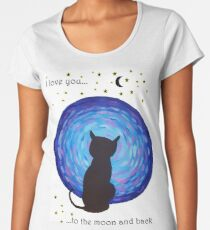 I Love You Cat Women's Premium T-Shirt