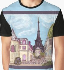 Paris Eiffel Tower inspired impressionist landscape by Kristie Hubler Graphic T-Shirt