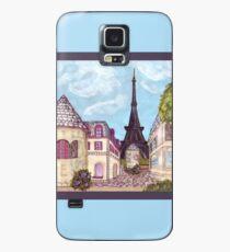 Paris Eiffel Tower inspired impressionist landscape by Kristie Hubler Case/Skin for Samsung Galaxy