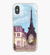 Paris Eiffel Tower inspired impressionist landscape by Kristie Hubler iPhone Case