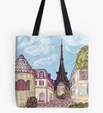 Paris Eiffel Tower inspired impressionist landscape by Kristie Hubler Tote Bag