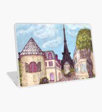 Paris Eiffel Tower inspired impressionist landscape by Kristie Hubler Laptop Skin