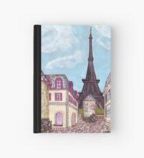 Paris Eiffel Tower inspired impressionist landscape by Kristie Hubler Hardcover Journal
