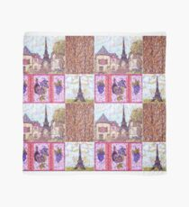 Paris Inspired Pointillism Grapes Wine Wood by Kristie Hubler Scarf