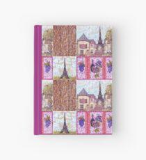 Paris Inspired Pointillism Grapes Wine Wood by Kristie Hubler Hardcover Journal