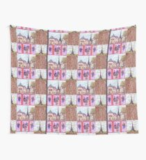 Paris Inspired Pointillism Grapes Wine Wood by Kristie Hubler Wall Tapestry