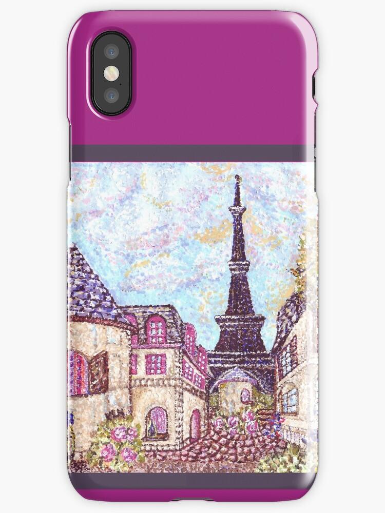 Vinilos y fundas para iPhone «Torre Eiffel de París inspirado ...