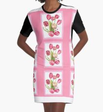 9 bunches of Pink Tulip Flowers by Kristie Hubler Graphic T-Shirt Dress