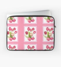 9 bunches of Pink Tulip Flowers by Kristie Hubler Laptop Sleeve