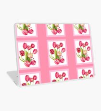 9 bunches of Pink Tulip Flowers by Kristie Hubler Laptop Skin