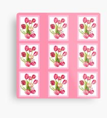 9 bunches of Pink Tulip Flowers by Kristie Hubler Metal Print