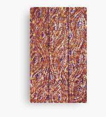 Wood Planks Pointillism by Kristie Hubler Canvas Print