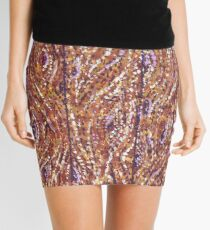Wood Planks Pointillism by Kristie Hubler Mini Skirt