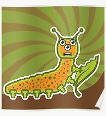 Caterpillar Cartoon Poster