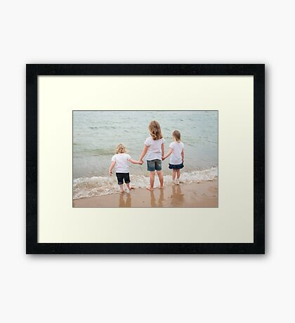 Contemplating Lake Michigan  Framed Print