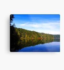 Pass Lake Fall Colors Two Metal Print