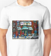 FAIRMOUNT BAGEL MONTREAL ART CANADIAN PAINTINGS T-Shirt