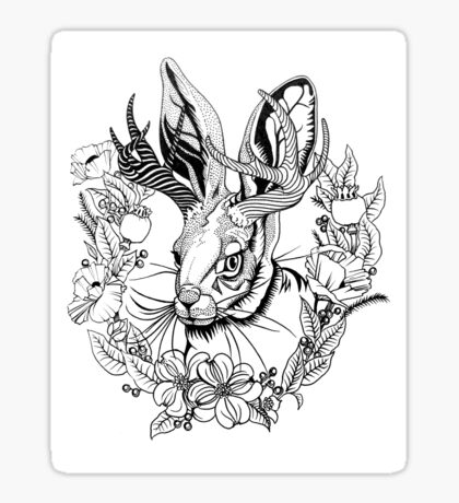 The Majestic Jackalope Sticker