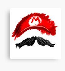 Super Mario Mustachio! Canvas Print