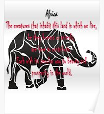 Giants of Africa - Funny t-shirt Poster
