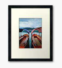 Boats in Lake Bled  Slovenia Framed Print