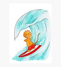 Triceratops surf dude Photographic Print