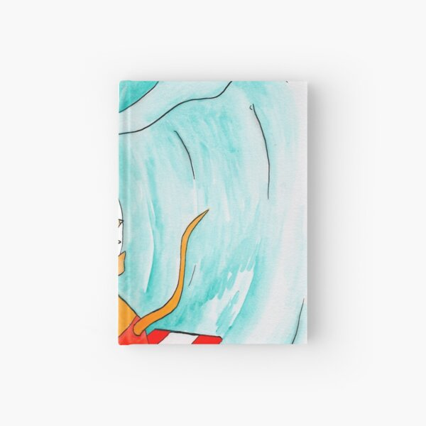 Triceratops surf dude Hardcover Journal