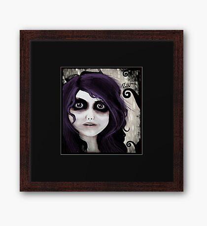 Dear little doll series... VALERIE Framed Print