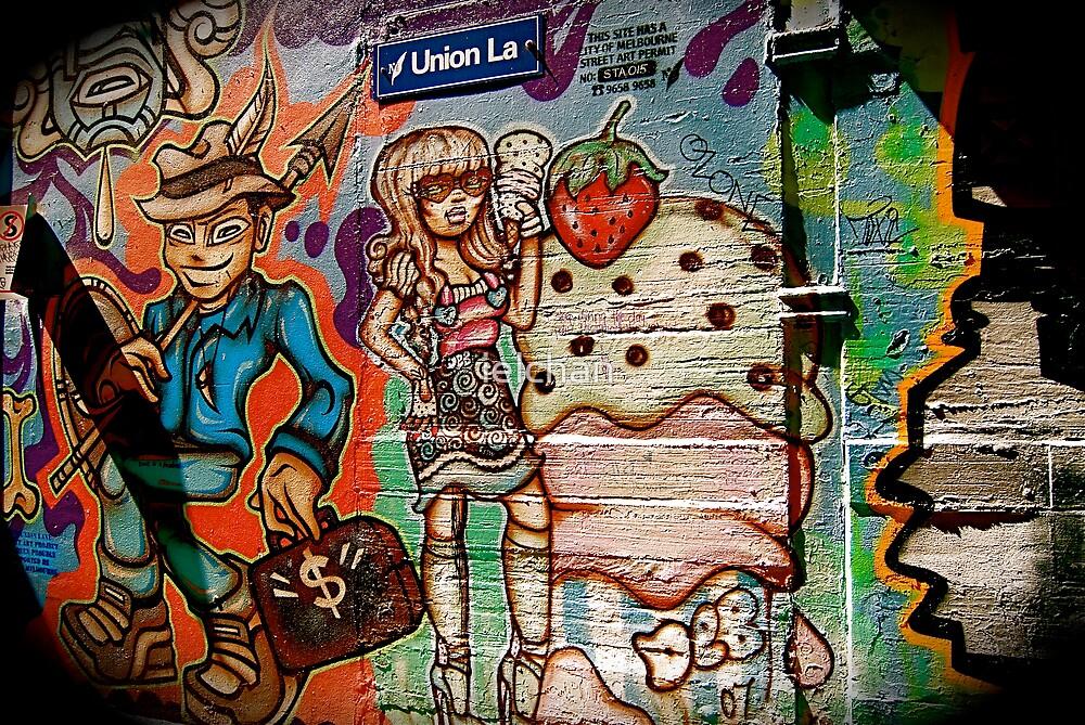 Union Lane Graffiti 2 by ielchan