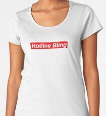 HOTLINE BLING // Red Box Logo Women's Premium T-Shirt