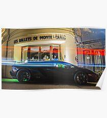 Black Lamborghini Aventador  Poster