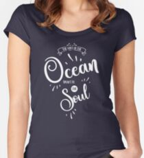The voice of the ocean Women's Fitted Scoop T-Shirt