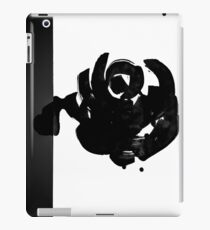 Abstract black ink rose iPad Case/Skin