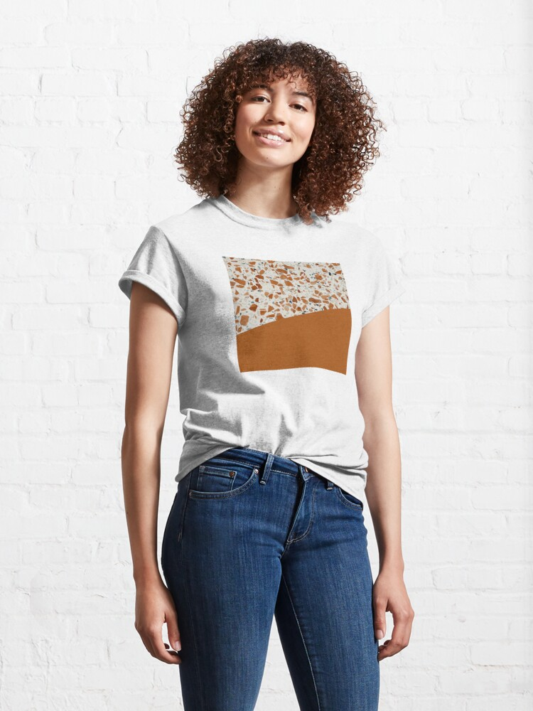 Alternate view of Terrazzo Texture Antique Mustard #3 Classic T-Shirt