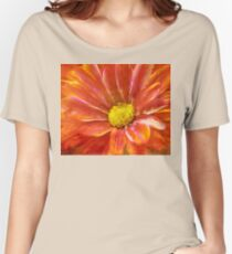 Red, Deep, Abstract Daisy Women's Relaxed Fit T-Shirt