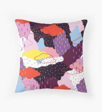 Purple Winter Floor Pillow