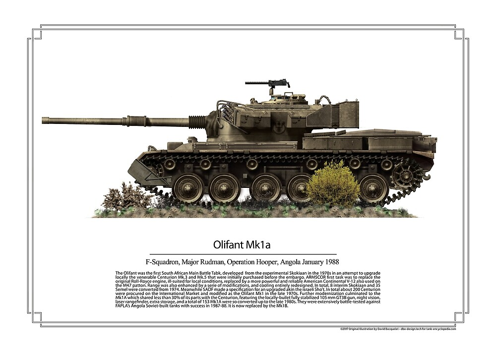 Olifant Mk1A MBT SADF by TheCollectioner