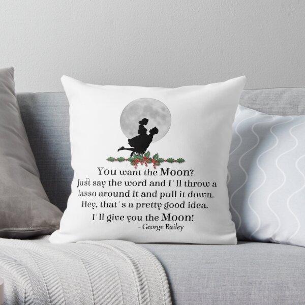 George Lassos The Moon Throw Pillow