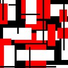De Stijl - Red, Black and White Stripes inspired by JamieIII