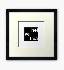 Helvetica - Timeless Font Framed Print