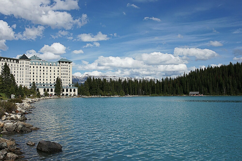 The Fairmont Chateau Lake Louise by roger smith