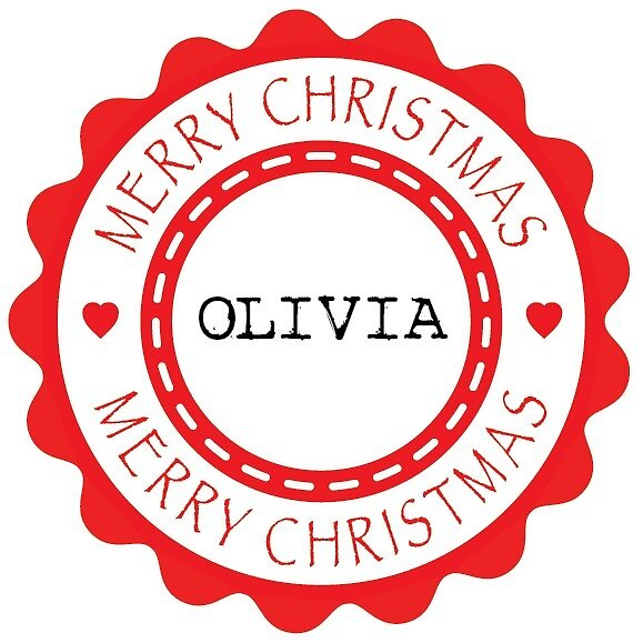 Merry Christmas - Adult Olivia x 4 (Personalised) by Bessibury