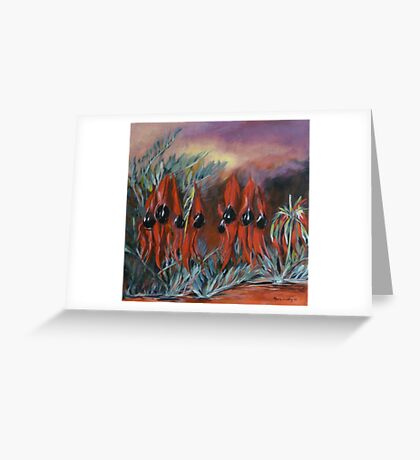 Sturt's Desert Pea Greeting Card