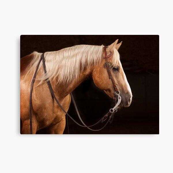 Palomino Quarter Horse au DSR Ranch Impression sur toile