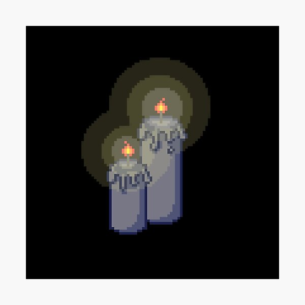 Spooky Pixel Candle Photographic Print
